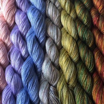 Hand Dyed Fine Silk 10gms